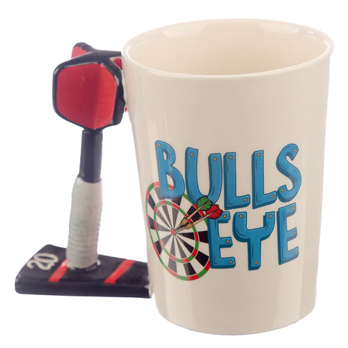 3D Dart Board Bulls Eye Shaped Mug