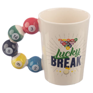 3D Snooker Billiards Balls Shaped Mug