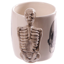 Gothic Skeleton Skull Bust Head 3D Shaped Mug