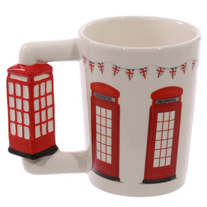 Red & White London Phonebox 3D Shaped Mug