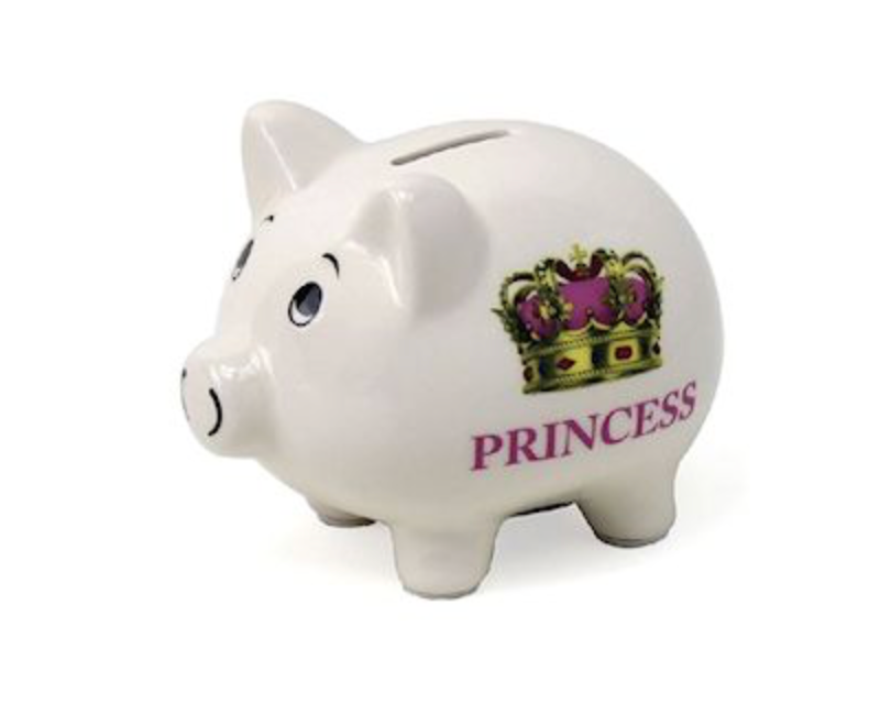 Princess Money Box Piggy Bank Ornament