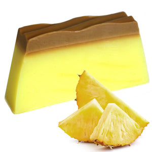 Yellow Pineapple Natural Tropical Handmade Soap Bar
