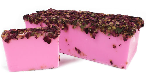 Pink Rose & Rose Petals Natural Handmade Soap Bar