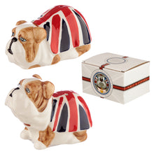 Union Jack British Bulldog Dog Salt & Pepper Shakers Cruet Set Ornament