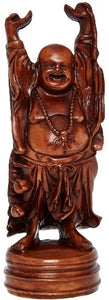 Brown Lucky Chinese Buddha Figurine Ornament