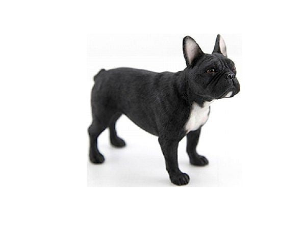 Black & White French Bulldog Ornament Figurine