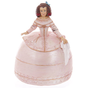 Pink Spanish Lady Figurine Money Box Bank Ornament