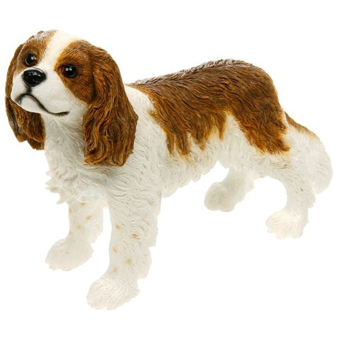 Cavalier King Charles Spaniel Dog Ornament Figurine Brown