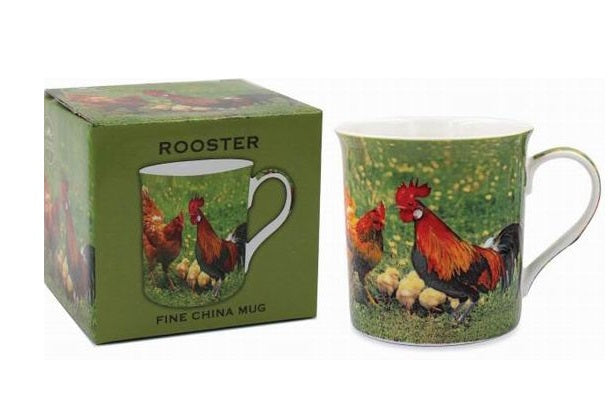 Farmyard Chicken Print Countryside Fine China Mug
