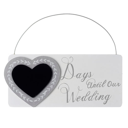 Countdown Days Until Our Wedding Hanging Wooden Plaque Sign