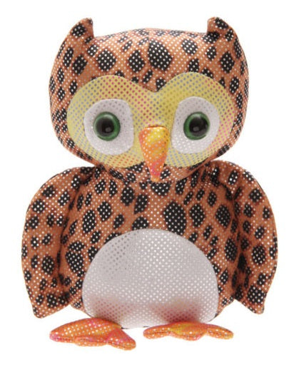 Brown Leopard Print Sand Animal Owl Teddy Can Also Be Used For A Paperweight Or Doorstop