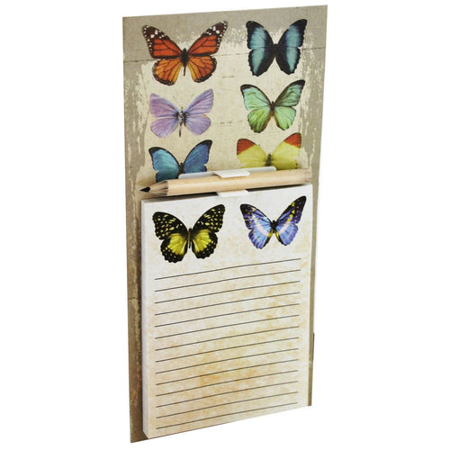 Vintage Style Butterfly Magnetic Shopping List Memo Pad