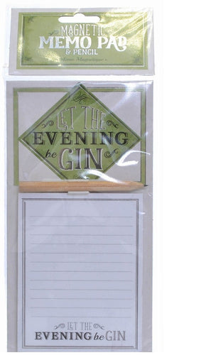 Let The Evening Be Gin Magnetic Shopping List Memo Pad