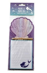 Purple Mermaid Tail Magnetic Shopping List Memo Pad