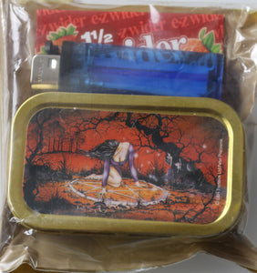 Fantasy Pentagram Woman Metal 1oz Tobacco Stash Tin Giftset