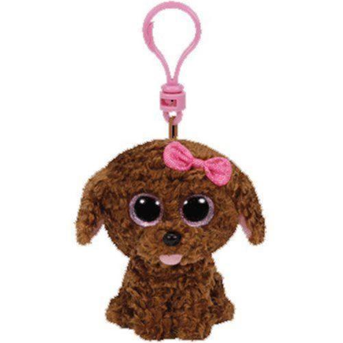 TY Beanie Boo Maddie The Dog Soft Toy Teddy Keyring
