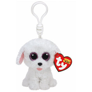 TY Beanie Boo Pippie The Dog Soft Toy Teddy Keyring