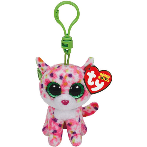 TY Beanie Boo Sophie The Cat Soft Toy Teddy Keyring