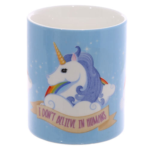 Mystical Unicorn I Don't Believe In Humans Print Mug