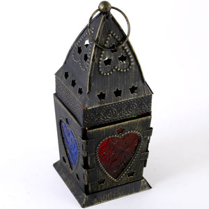 Rustic Style Hanging Moroccan Style Metal Lantern