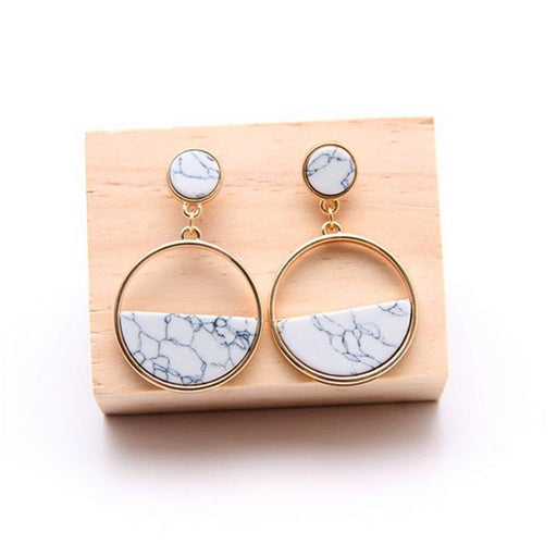 Marble Drop Ear Rings