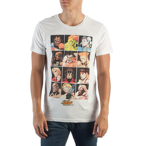 Street Fighter Character Grid T-Shirt