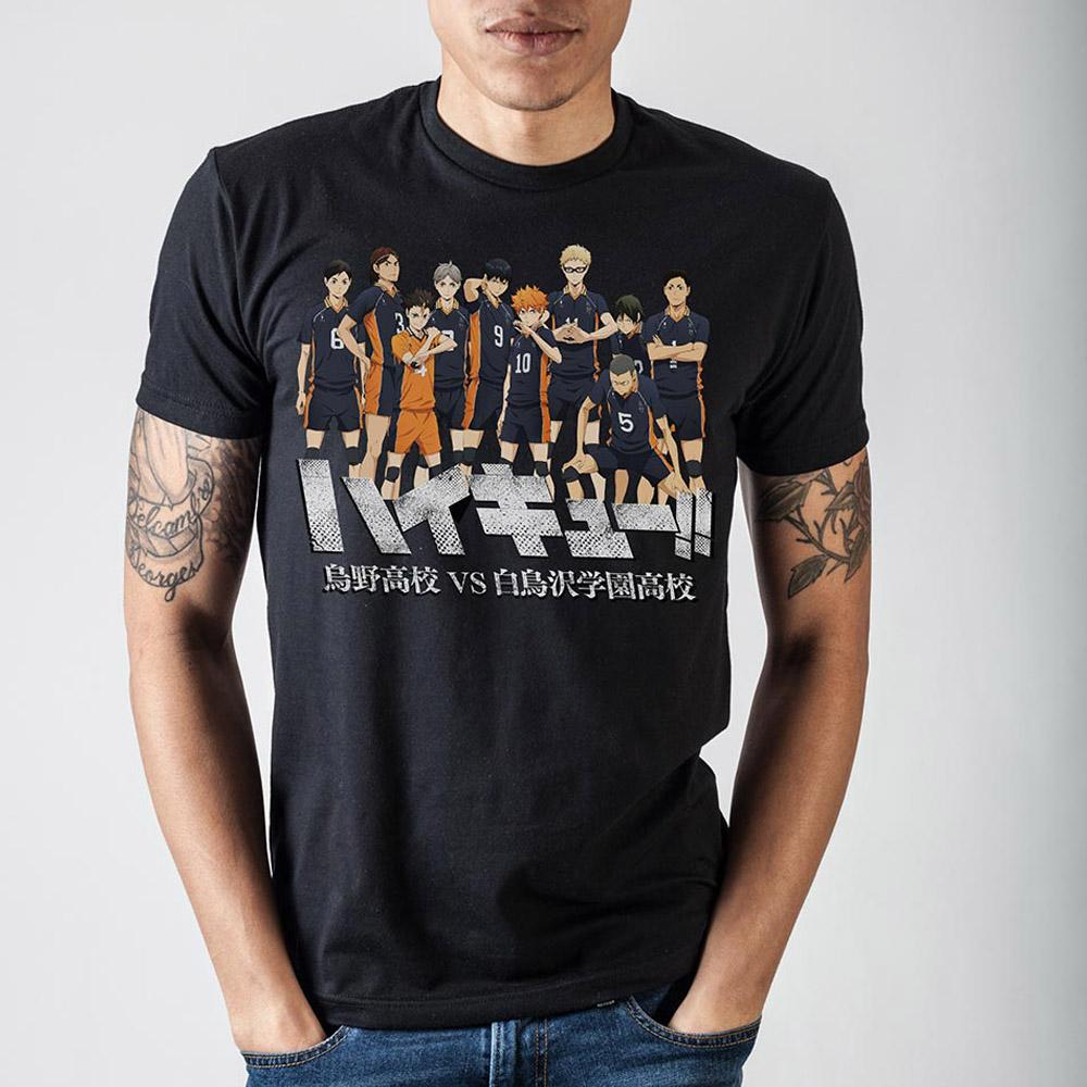 Haikyuu!! Characters Black T-Shirt