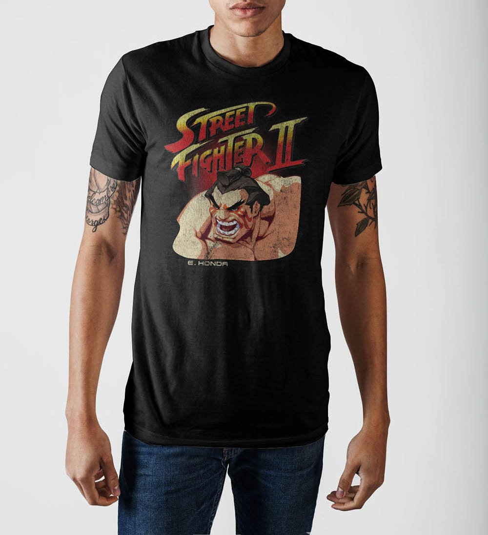 Street Fighter Black T-Shirt