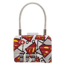 DC Comics Superman Logo TSA Approved Travel Combination Cable Luggage Lock for Suitcase Baggage