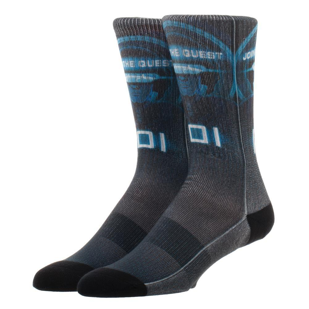 Ready Player One IOI Crew Sock, Innovative Online Industries Printed Logo Sock, Athletic Socks for Gamers