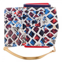 Suicide Squad Harley Quinn Inside Out Crossbody Wallet Clutch
