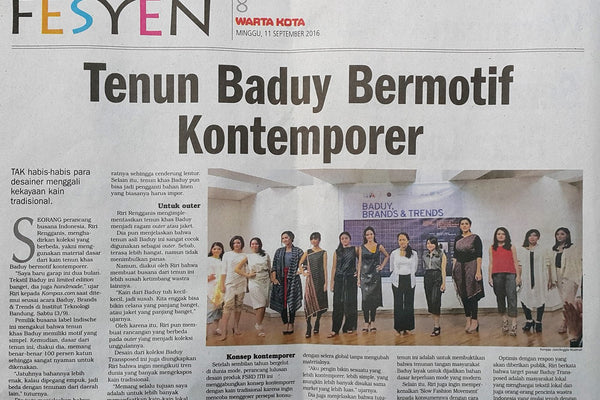 Media Coverage on Baduy Transposed