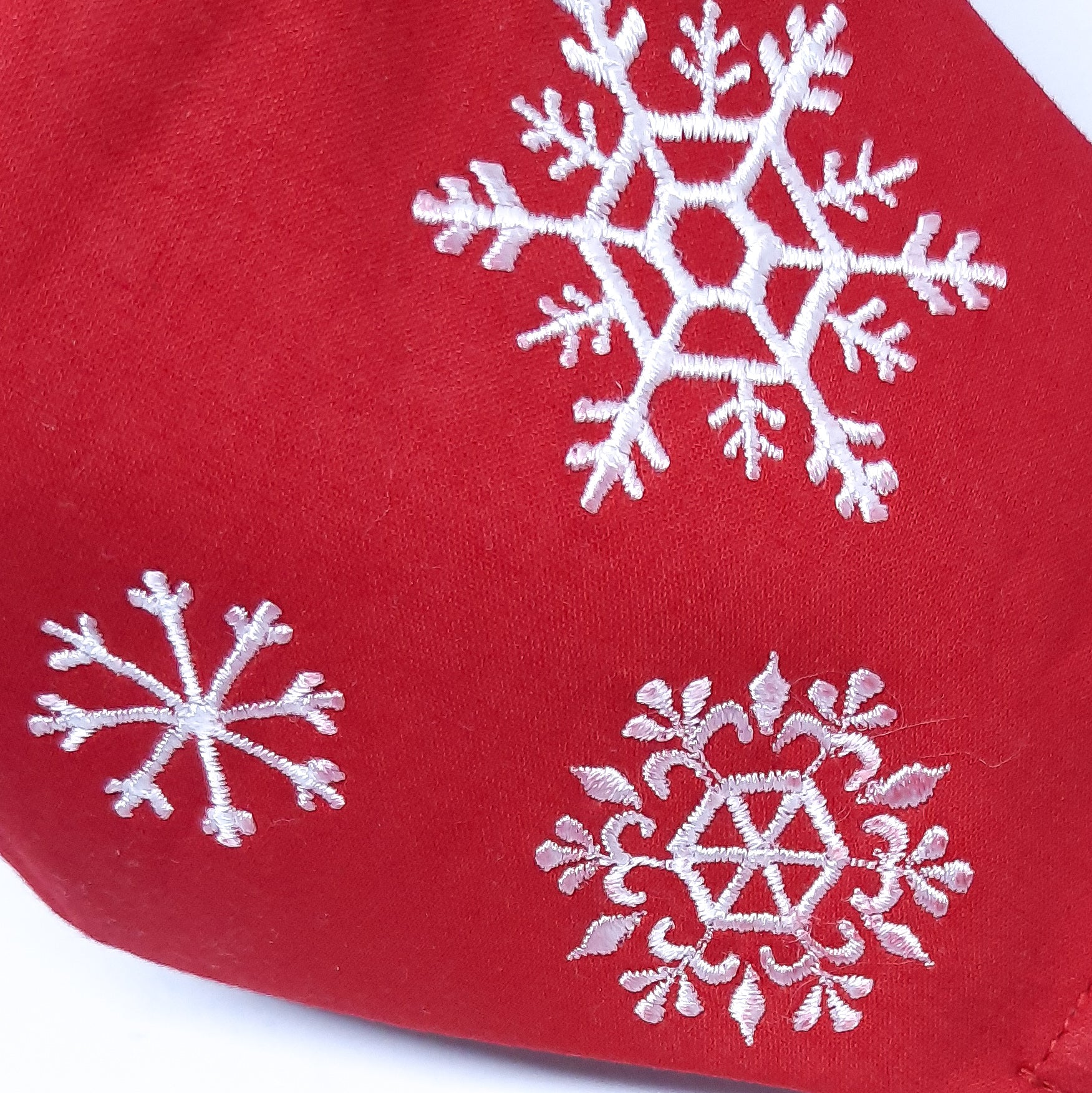 Red Snowflakes Facemask