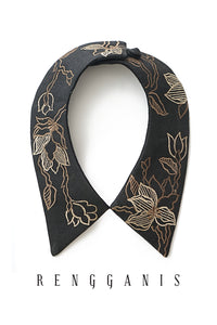 Cempaka Collar Necklace - Black
