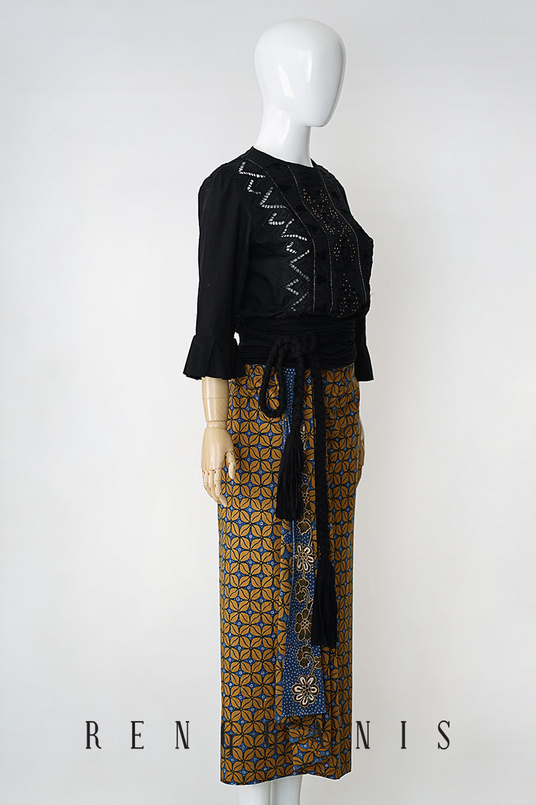 Batik Sarong Skirt with Side Drape