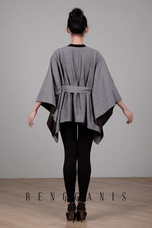 Reversible Cotton Tenun Poncho