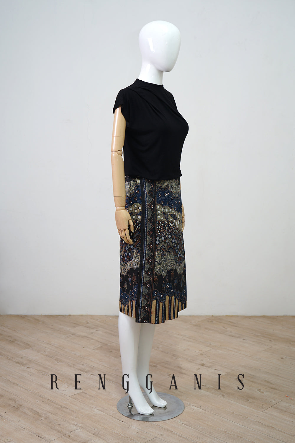 Batik Short Pleated Skirt