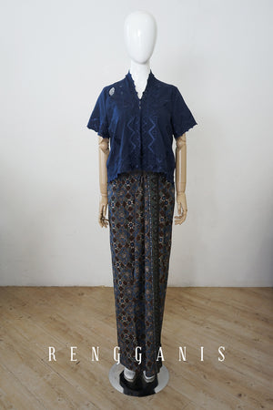Uncut Batik Sarong Skirt with Draping
