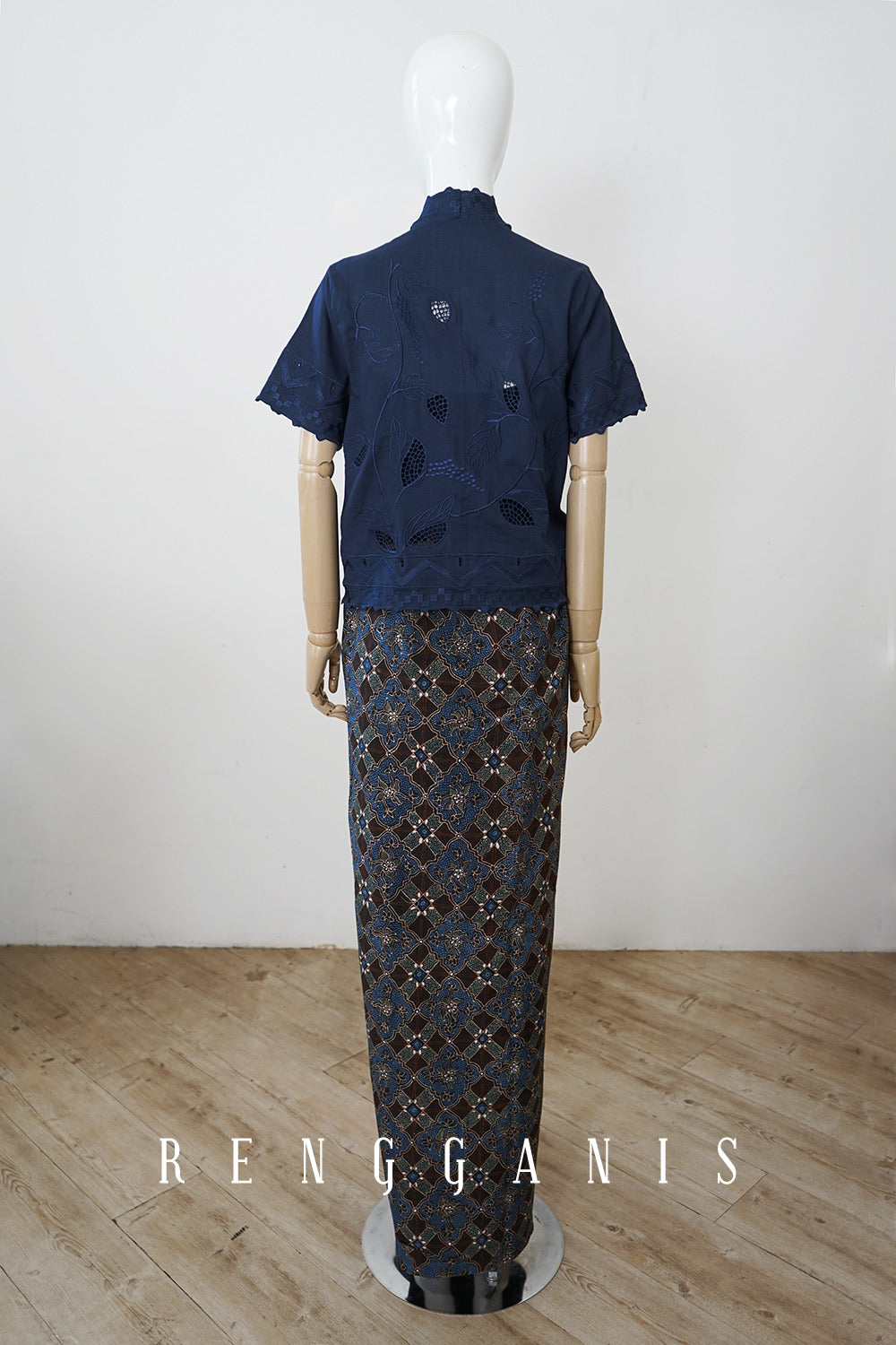 Batik Sarong Skirt with Draping