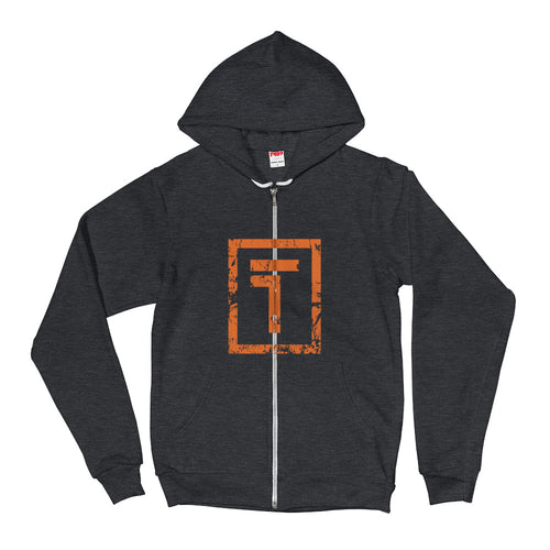 Unisex Dark Gray Zip-up Hoodie