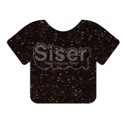 Glitter Heat Transfer Vinyl - Black