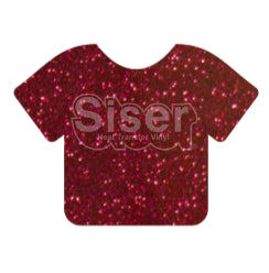 Glitter Heat Transfer Vinyl - Cherry