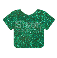 Glitter Heat Transfer Vinyl - Emerald