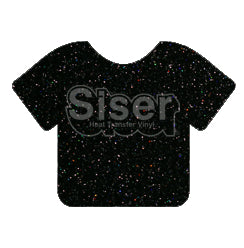 Glitter Heat Transfer Vinyl - Galaxy Black