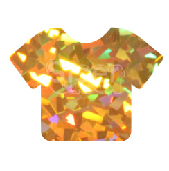 Siser Holographic Heat Transfer Vinyl - Gold Crystal