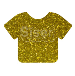 Glitter Heat Transfer Vinyl - Gold