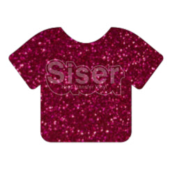 Glitter Heat Transfer Vinyl - Hot Pink