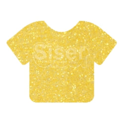 Glitter Heat Transfer Vinyl - Lemon Sugar