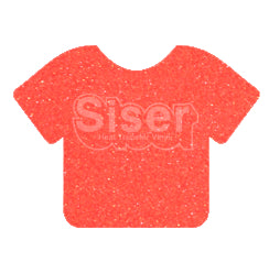 Glitter Heat Transfer Vinyl - Neon Grapefruit