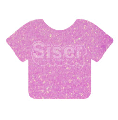 Glitter Heat Transfer Vinyl - Neon Purple